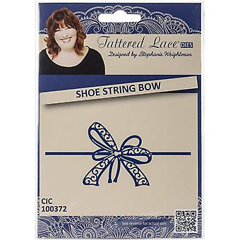 Create and Craft Metal Tattered Lace Die-Shoestring Bow