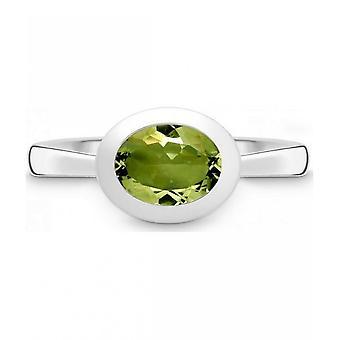 QUINN - Ring - Women - Silver 925 - Gemstone - Peridot - Width 56 - 21400647