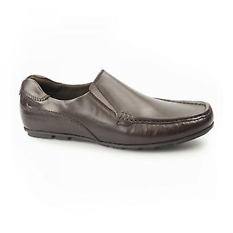 Base London Cuba menns Leather Moccasin loafers Brown