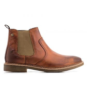 Base London Piper Waxy Mens Leather Chelsea Boots Tan