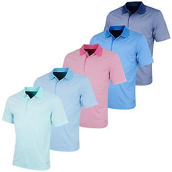 Greg Norman Mens Bar Stripe Lightweight Golf Polo Shirt
