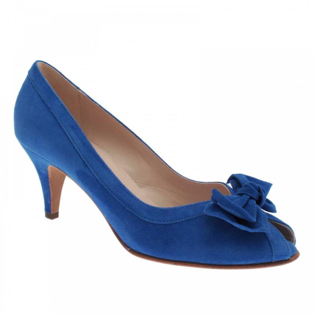 Peter Kaiser Satyra Blue Suede Peep Toe Court Shoe zN0Bh