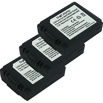 3 x Dot.Foto Panasonic CGA-S002, CGA-S002E, DMW-BM7 wymiana baterii - 7, 2V / 700mAh