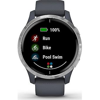 Garmin - Smartwatch - VENU Granite Blue Silver - 010-02173-02