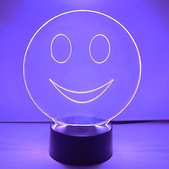 Smiley Emoji Colour Changing LED Acrylic Light - Happy