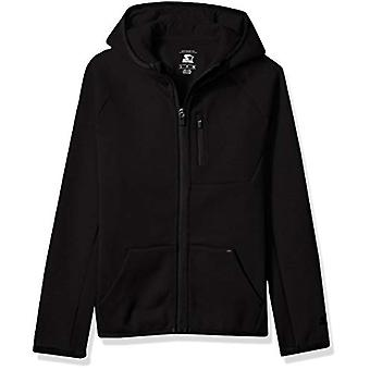 Starter Boys' Double Knit Colorblocked Zip-Up Hoodie, Exclusive, Black...