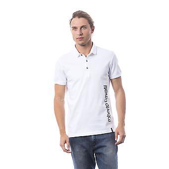 Polo krótkie rękawy Biały Roberto Cavalli mężczyzn