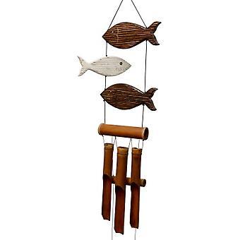 Brown et White Fun Fish Harmony Wind Chime