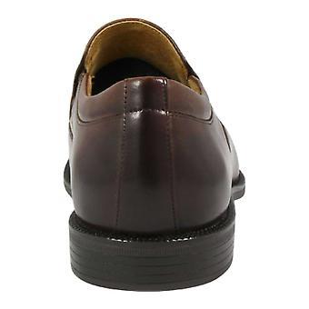 Florsheim Mens Forum Moc Leather Cap Toe Slip On Shoes