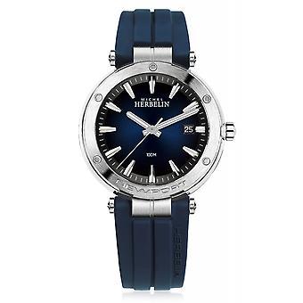 Michel Herbelin 12288-15CB Men's Newport Blue Dial Wristwatch