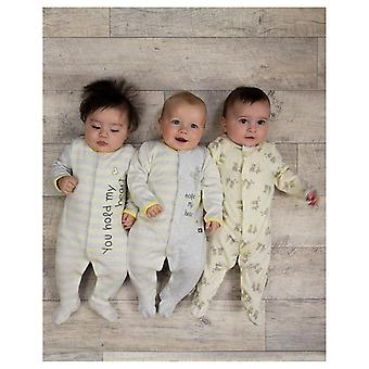 Essential One Unisex Baby 'you Hold My Heart' Sleepsuit - 3'lü Paket