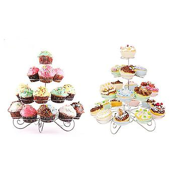 4-Tier Metal Tree Cupcake Stand with 23 Muffin Holder
