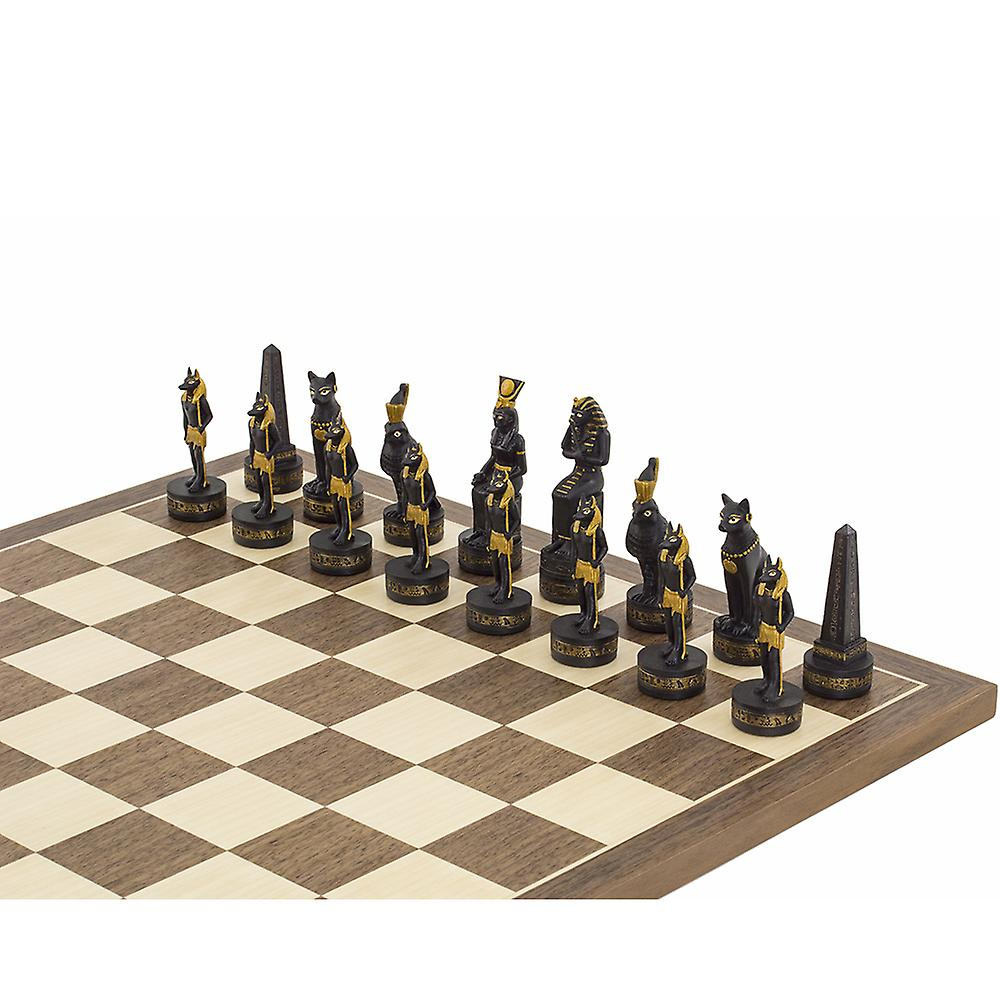 The Ancient Egypt Hand painted themed chess pieces by Italfama
