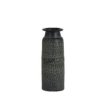 Light & Living Vase 9x25cm Orania Black-Antique Green