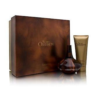 Obsesión secreta por calvin klein para las mujeres conjunto de 2 piezas incluye: 3.4 oz eau de parfum spray + 3.4 oz loción corporal satinado