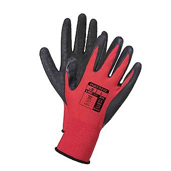 Portwest flex grip latex workwear gloves a174