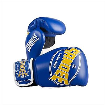 Sandee cool-tec kids muay thai boxing gloves - blue