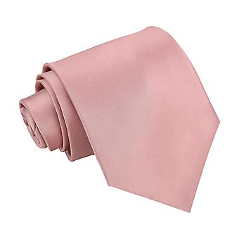 Dusty Pink Plain Satin klassische Krawatte