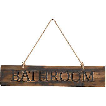 Badkamer rustiek houten bericht plaque