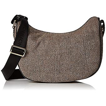 Borbonese Luna Small Women's Shoulder Bag Grey 87x72x36 cm (W x H x L)