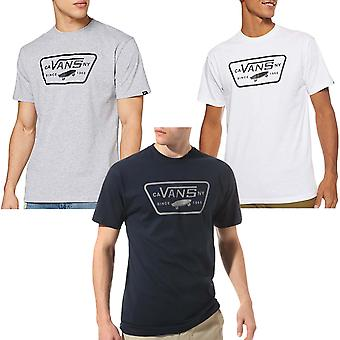 Vans Mens Full Patch Short Sleeve Crew Neck Casual Cotton T-Shirt Top Tee