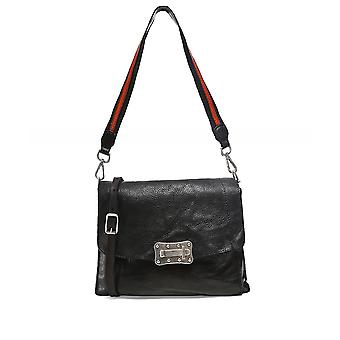 Campomaggi Leather Contrast Crossbody Bag