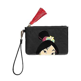 Mulan Coin Purse Portrait Logo new Official Disney Black