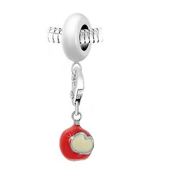 Charm Pearl Apple van 'apos;love door SC Crystal Paris BEA0044-CH0435-zilver
