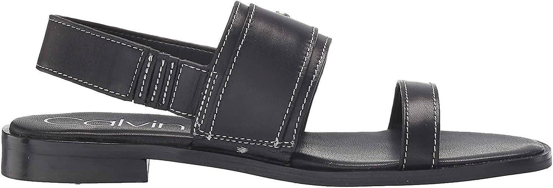 Calvin Klein Femmes-apos;s Sandale Plate Telisha