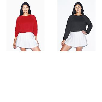 American Apparel Womens/Ladies Flex Fleece Cropped Pullover Sweatshirt