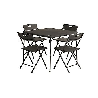 Outwell Corda Picnic Table Set With 4 Chairs Black