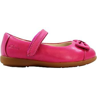 Clark's Dance Harper FST Hot Pink Leather 26108219 Småbarn