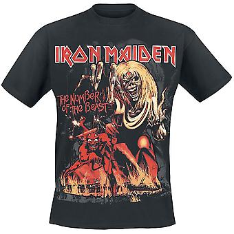 Rock off - iron maiden number of the beast- cotton t-shirt