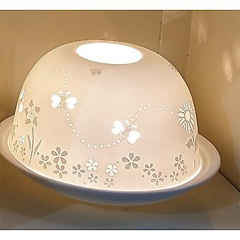 Nordic Lights Bees & Flowers Tealight Candle Shade & Tray
