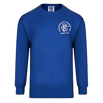 Rangers FC Official Mens 1972 European Cup Winners Cup Final Retro Kit Shirt