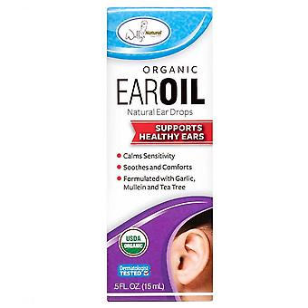 Wally's natural organic ear oil ear drops, 0.5 oz