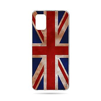Hull For Samsung Galaxy A71 Flexible Flag Uk Vintage