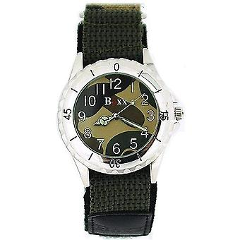 Boxx Gents Teenagers Analogue Green Army Camouflage Easy Fasten Sport Watch