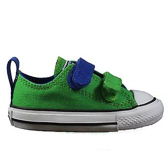 Converse Chuck Taylor All Star 2V 742888F Green Canvas Childrens Unisex Rip Tape Sneaker Shoes