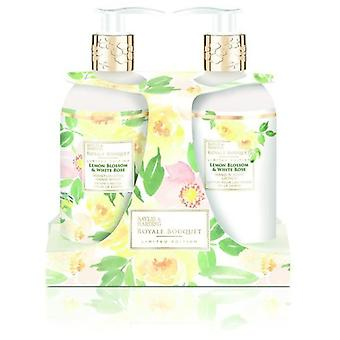 Baylis & Harding Royale Bouquet Set of lemon and white rose 500 ml