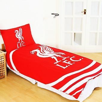 Liverpool FC oficial pulso reversível Duvet único conjunto
