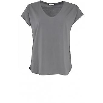 Sandwich Clothing Anthracite Silky Front Top