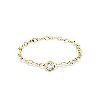 Pierścień Solitaire Diamond 0,05 karatowego i 18K Złoto
