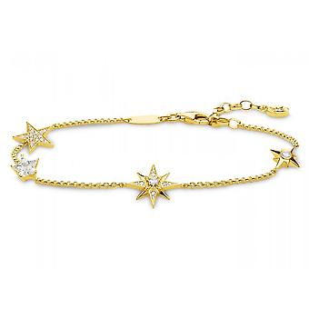 Thomas Sabo White Gold Magic Stars Multiple Star Bracelet