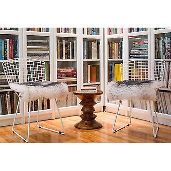 """16"""" X 16"""" Gradiente Gris, Piel de Oveja - Cubierta asiento/silla"""