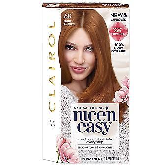 Clairol nice 'n easy, 6r/110 natural light auburn, 1 ea