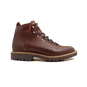 Barker Glencoe Cherry Grain Calf Leather Mens Hiking Style Lace Ankle Boots