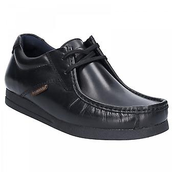Base London Black Leather Event Waxy Lace Up Shoes