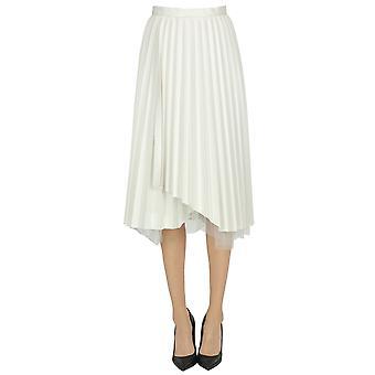 Ermanno Scervino Ezgl078055 Women's White Nylon Skirt