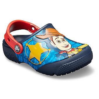 Crocs Funlab Buzz Amp Woody Clog 205493NAVY scarpe universali per neonati estivi